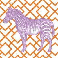 Bright Menagerie Zebra Framed Print