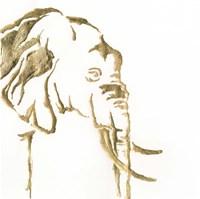 Gilded Elephant Fine Art Print