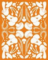 Retro Mushroom Otomi Silhouette Fine Art Print