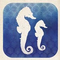 Watermark Seahorse Framed Print