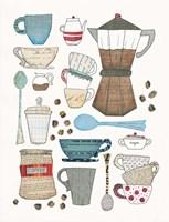 Coffee Chart I Fine Art Print