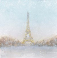 Eiffel Romance no Couple Turquoise Fine Art Print