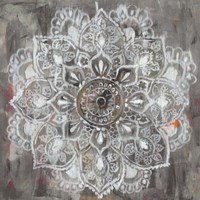 Mandala in Neutral II Fine Art Print