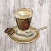 Coffee Time III on Wood Framed Print