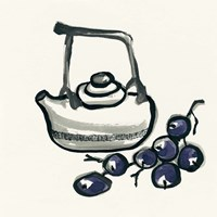 Tea and Grapes Fine Art Print