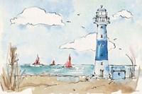 Coastal Life II Framed Print