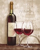 Wine in Paris IV Fine Art Print