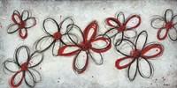 Mod Flowers in Red Fine Art Print
