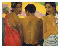 Three Tahitians Fine Art Print