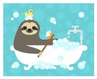 Scrubbing Bubbles Sloth Fine Art Print