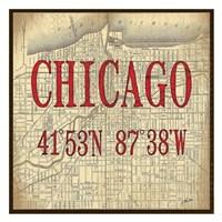 Chicago Latitude and Longitude Fine Art Print