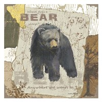 Bear Sleep (square) Fine Art Print