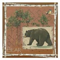 Bears on Red Framed Print