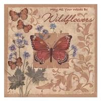 Butterflies and Flowers Fine Art Print