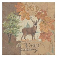 Deer / Deer / Elk Crossesing Fine Art Print