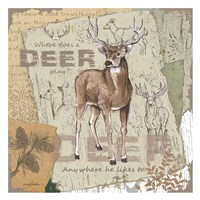 Deer Play Fine Art Print