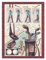 Golf Clubs and Golf Balls Fine Art Print