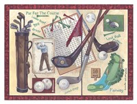 Golf Clubs I Fine Art Print