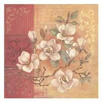 Magnolia and Leaves Fine Art Print