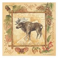 Moose (rustic border) Fine Art Print