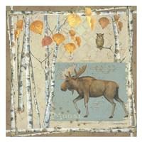 Moose (borwn and blue) Framed Print