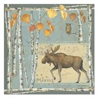 Moose (blue background) Fine Art Print