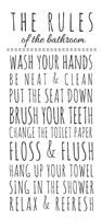 Rules of the Bathroom Fine Art Print