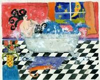 Big Diva Mermaid Bubble Bath Fine Art Print