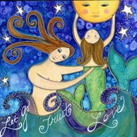 Big Diva Mermaid Mother's Love Fine Art Print