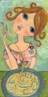 Big Eyed Girl Bon Appetit Fine Art Print