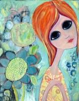 Big Eyed Girl Hope Garden Fine Art Print
