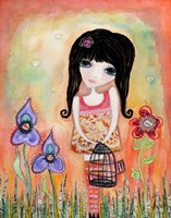 Big Eyed Girl Just Believe Fine Art Print