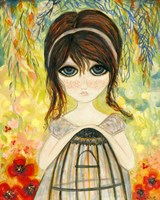 Big Eyed Girl Not Today Fine Art Print