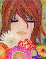Big Eyed Girl Reflections Fine Art Print