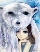 Big Eyed Girl Solitude Fine Art Print