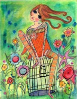 Big Eyed Girl Trust Fine Art Print