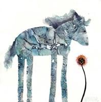 Blue Painted Pony Fine Art Print