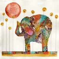 Elephant In Sunflower Field Fine Art Print