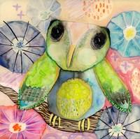 Hello World Baby Owl Fine Art Print