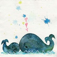 Love You Whales Fine Art Print