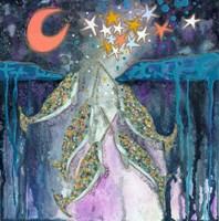 Stargazer Celebration Narwhals Fine Art Print