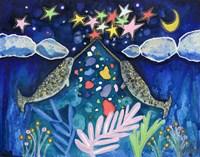 Stargazing Narwhals Fine Art Print