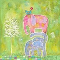 Strong One Elephants Fine Art Print