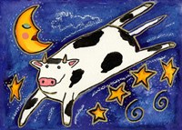 The Cow That Jumped Over The Moon Fine Art Print
