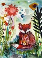 Baby Fox in the Garden Fine Art Print