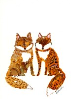 Two Baby Foxes Fine Art Print