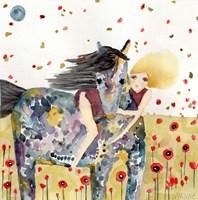 Wind In The Poppy Field Fine Art Print