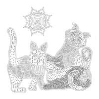 Calico Cats Fine Art Print