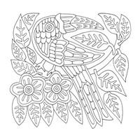 Mola Bird Easy Fine Art Print