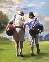 Golfing Buddies Fine Art Print